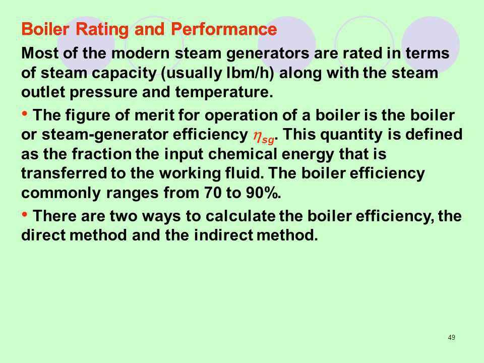 Boiler Rating and Performance