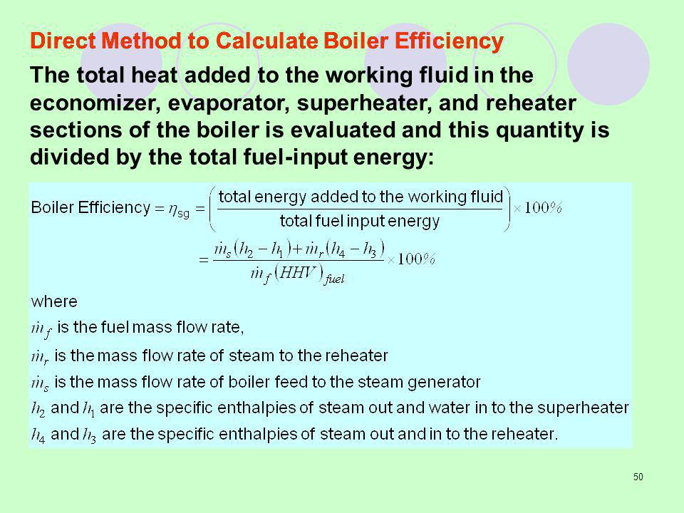 Direct Method to Calculate Boiler Efficiency