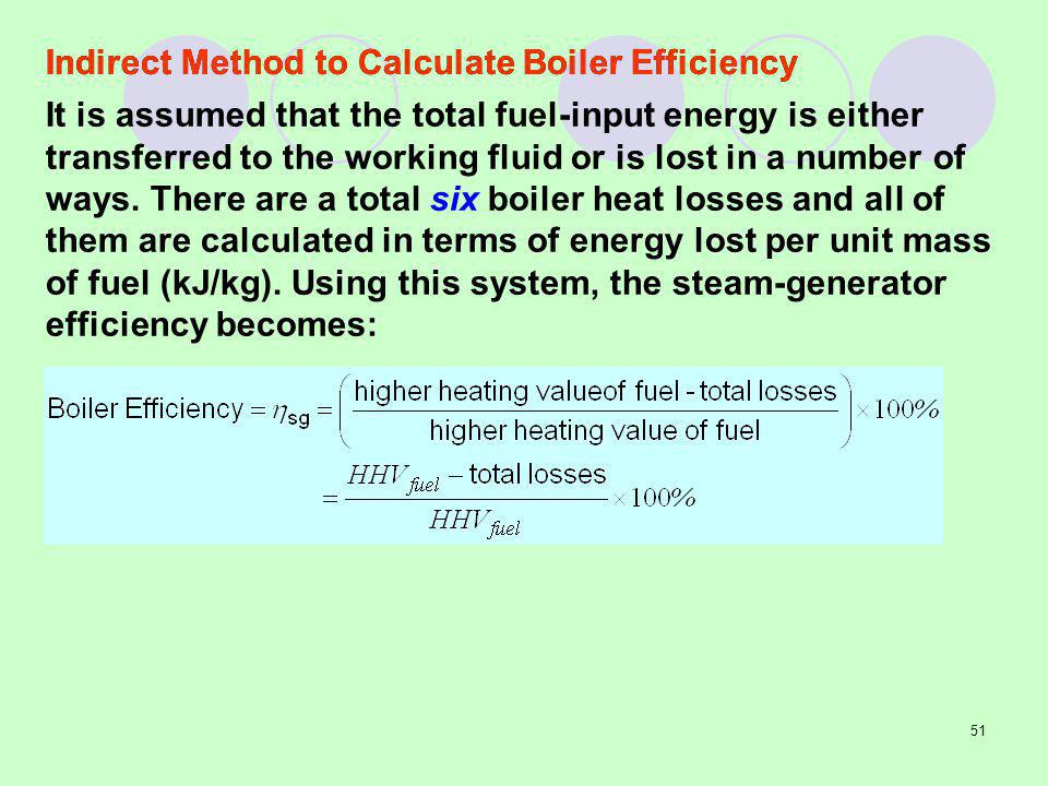 Indirect Method to Calculate Boiler Efficiency