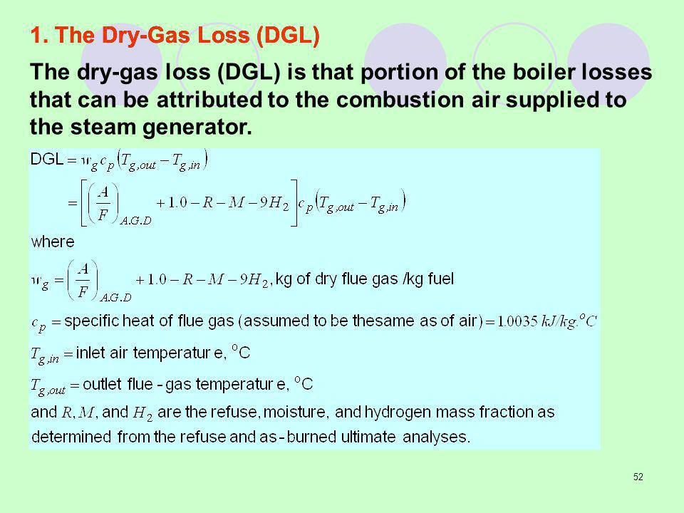 1. The Dry-Gas Loss (DGL)