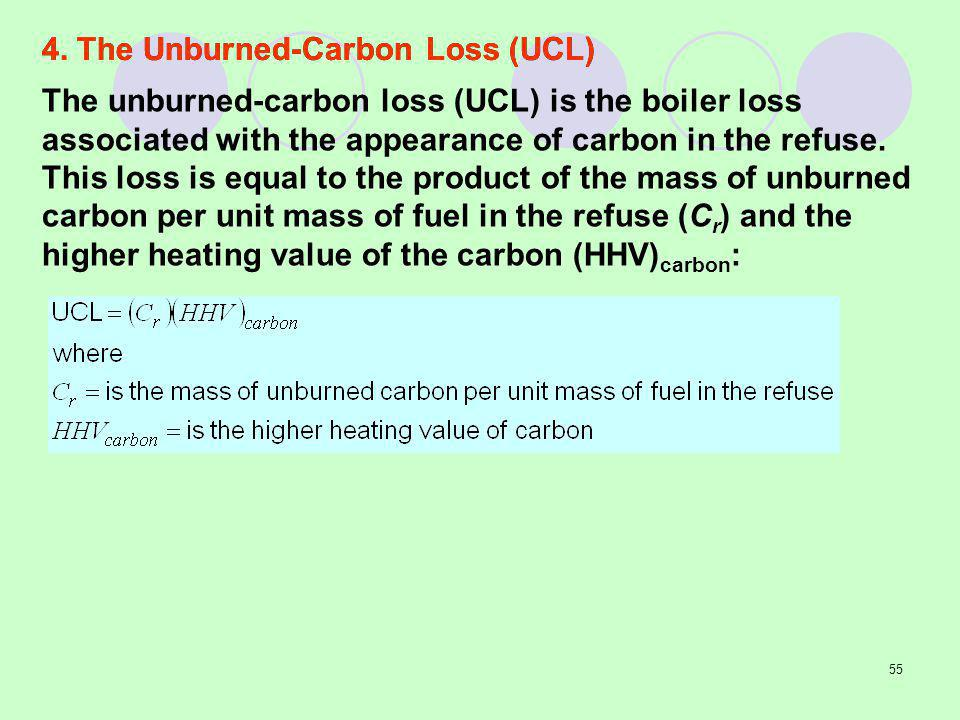 4. The Unburned-Carbon Loss (UCL)