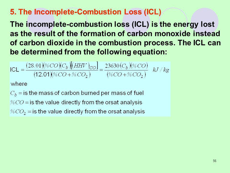 5. The Incomplete-Combustion Loss (ICL)