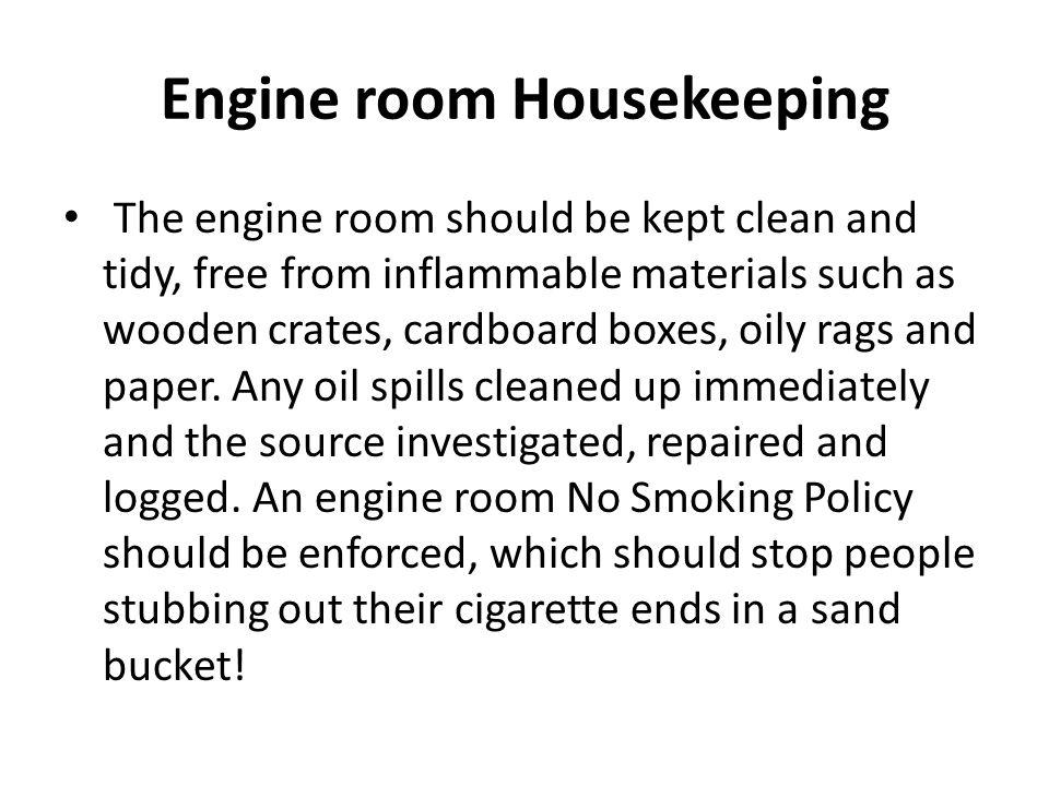 Engine room Housekeeping