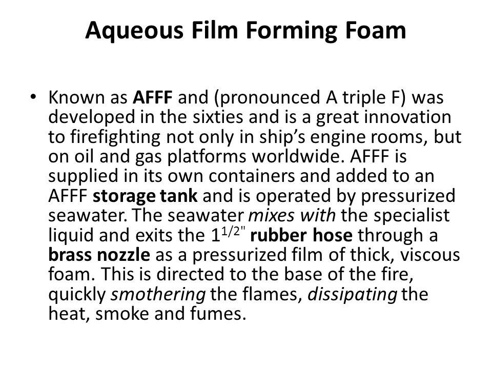 Aqueous Film Forming Foam