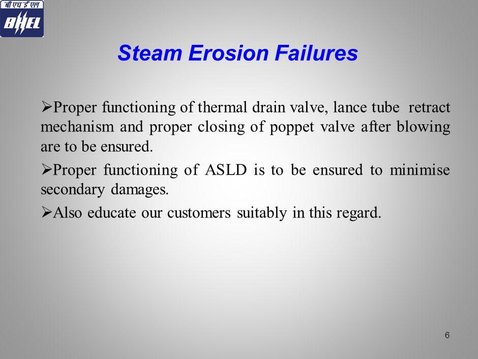 Steam Erosion Failures