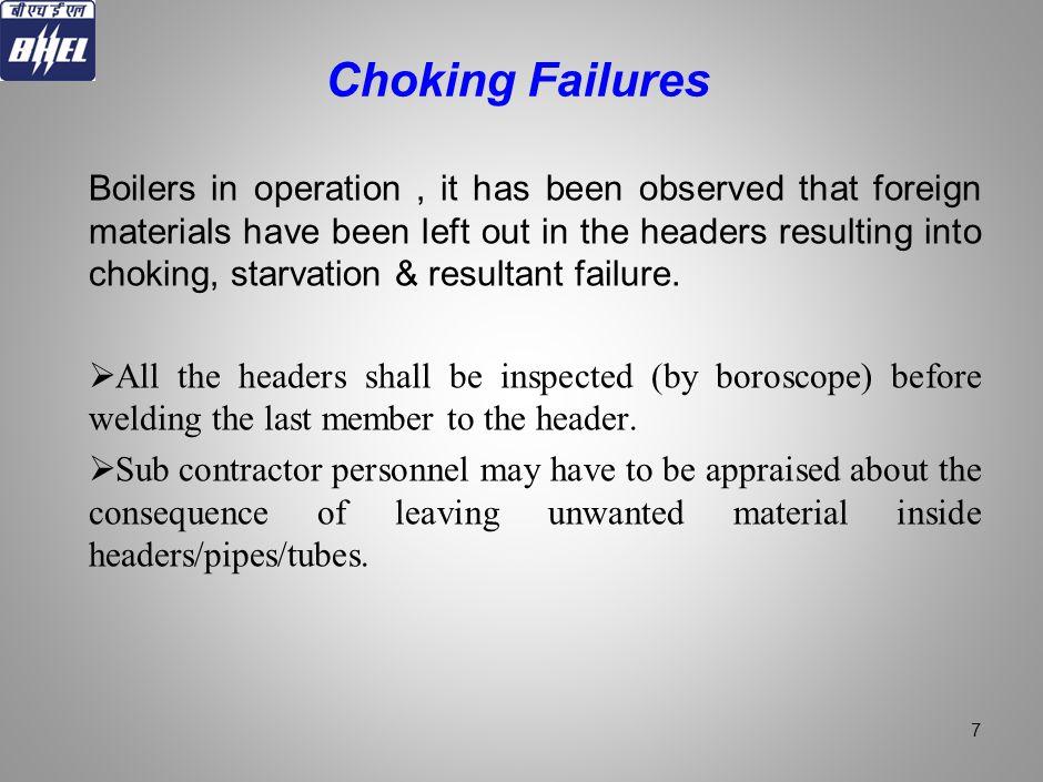 Choking Failures