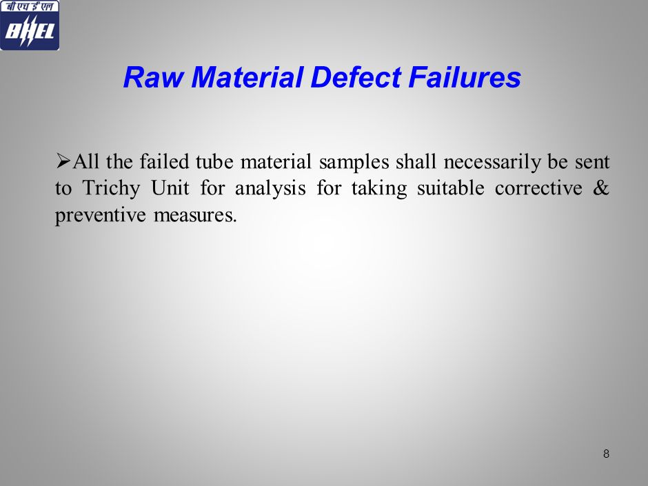 Raw Material Defect Failures