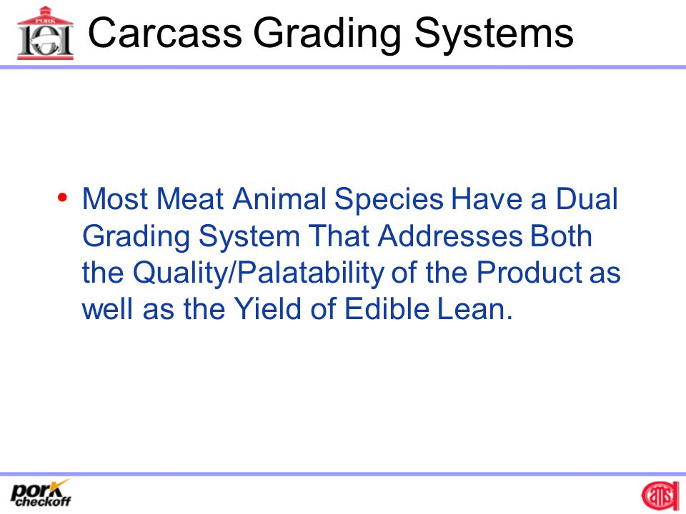 Carcass Grading Systems