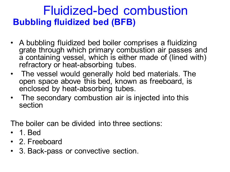 Fluidized-bed combustion
