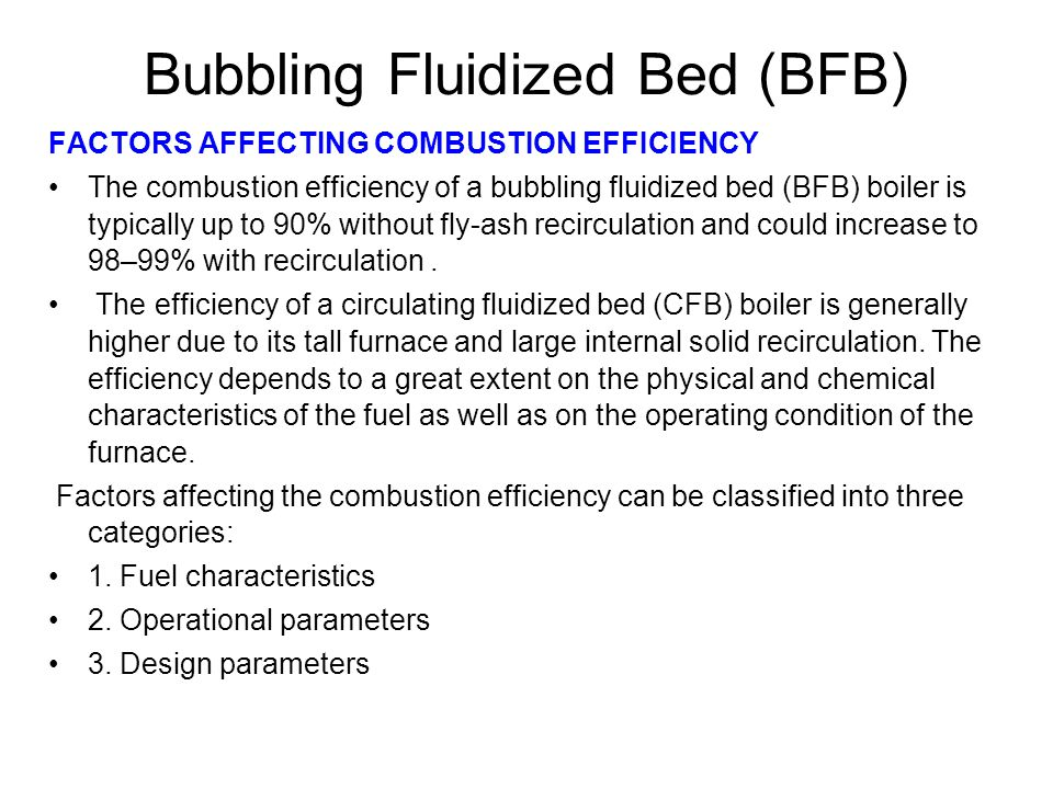 Bubbling Fluidized Bed (BFB)