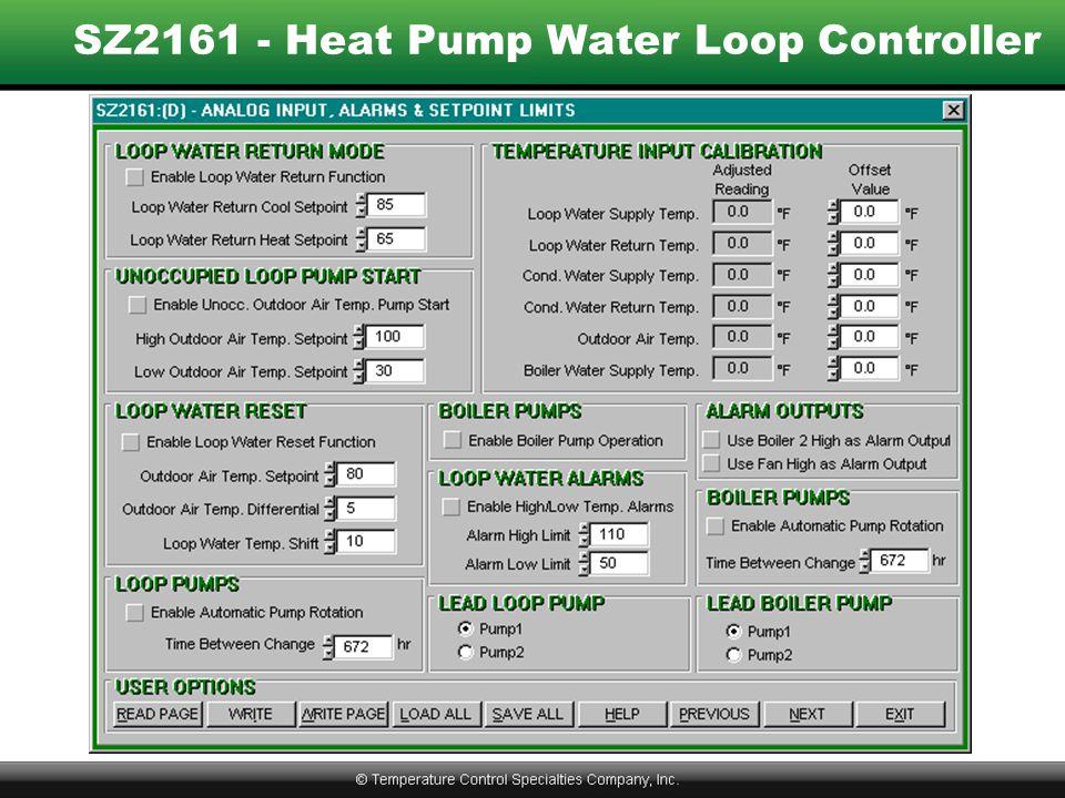SZ2161 - Heat Pump Water Loop Controller
