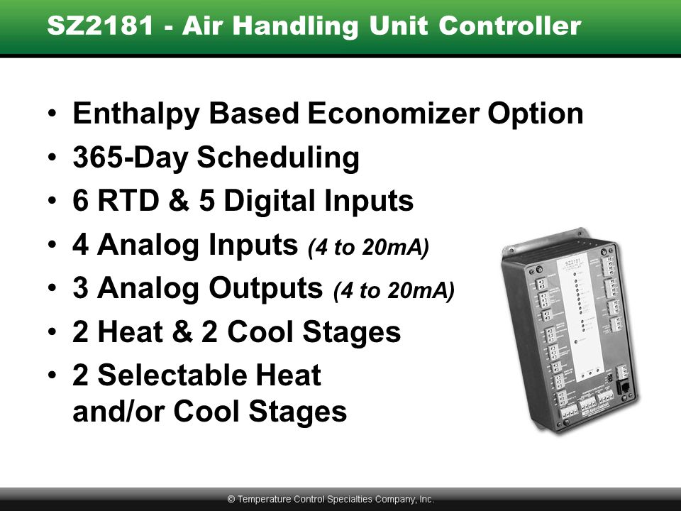 SZ2181 - Air Handling Unit Controller