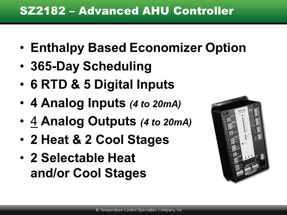 SZ2182 – Advanced AHU Controller