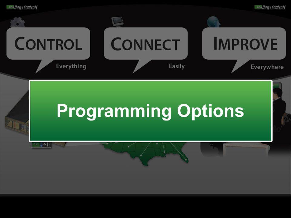 Programming Options