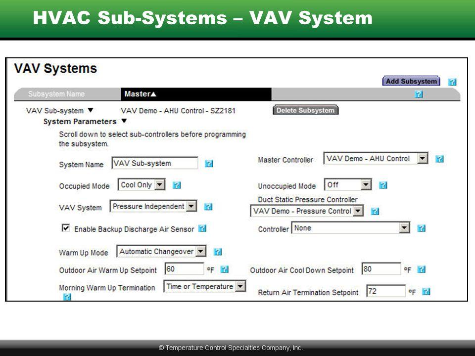 HVAC Sub-Systems – VAV System
