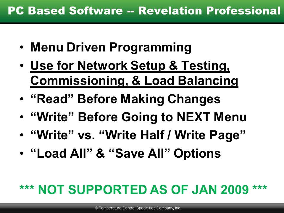 PC Based Software -- Revelation Professional