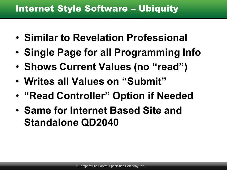 Internet Style Software – Ubiquity