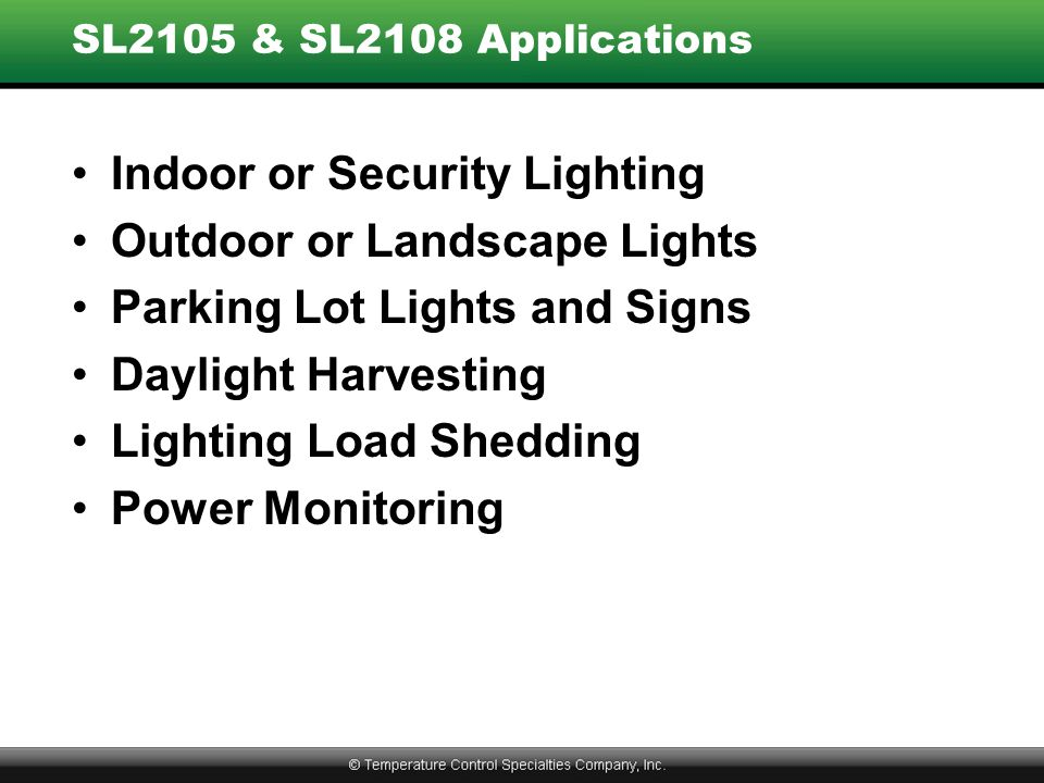 Indoor or Security Lighting Outdoor or Landscape Lights