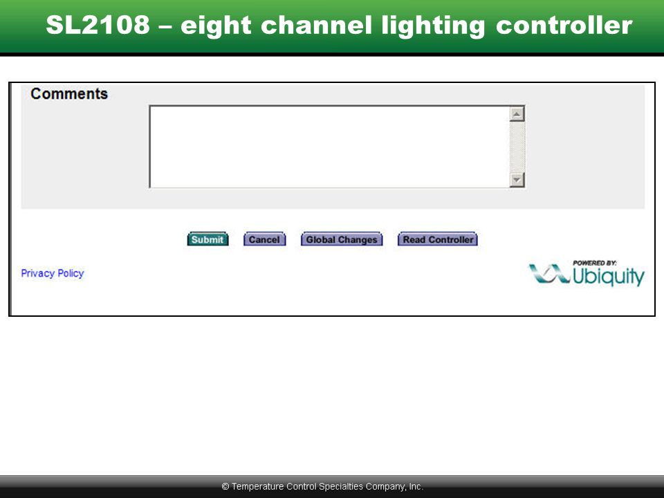 SL2108 – eight channel lighting controller