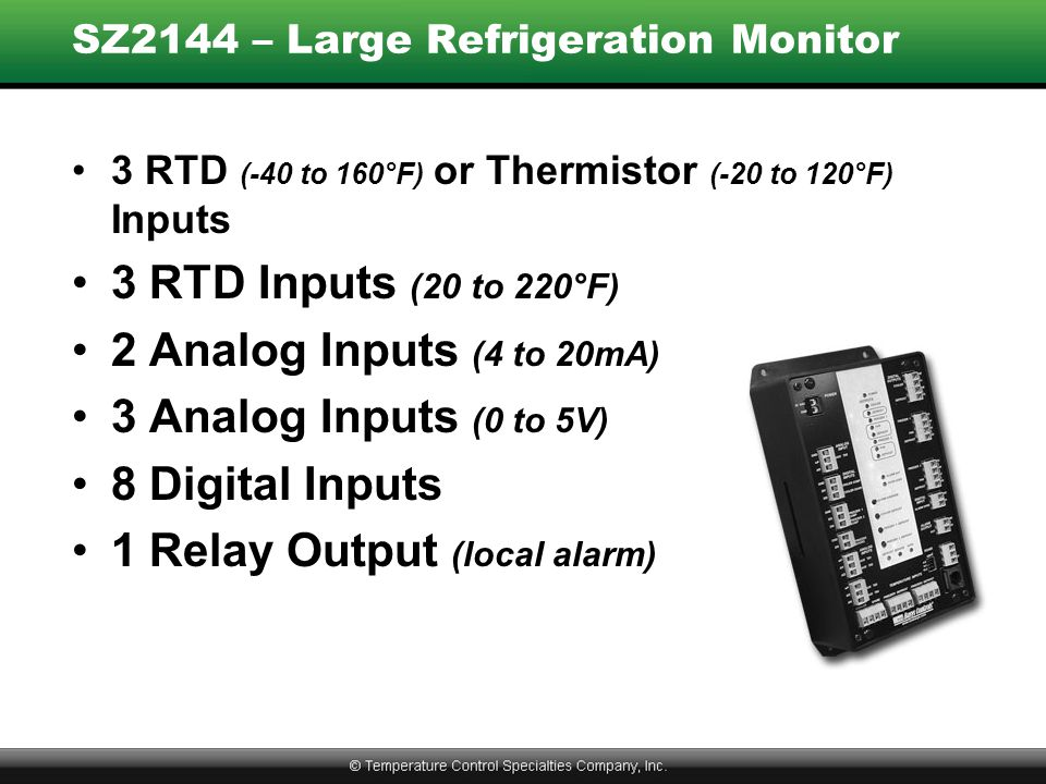SZ2144 – Large Refrigeration Monitor