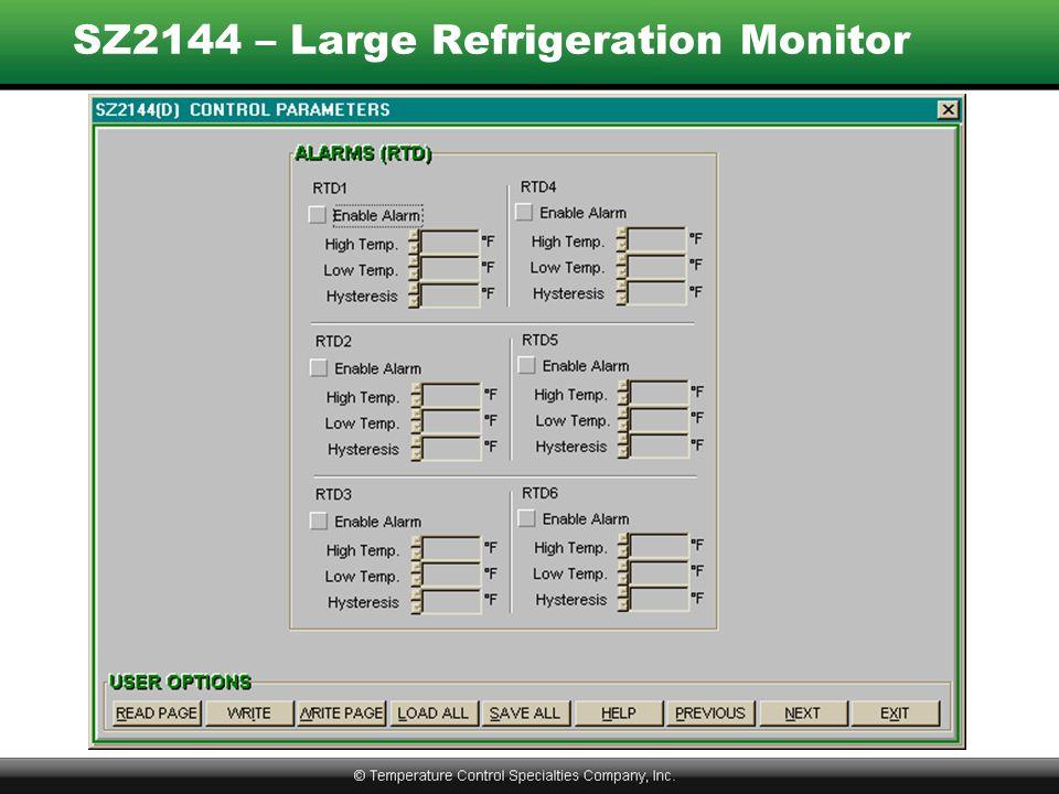 SZ2144 – Large Refrigeration Monitor
