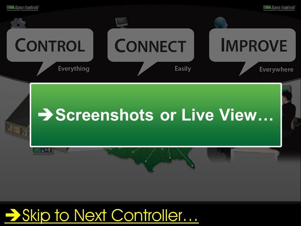Screenshots or Live View…