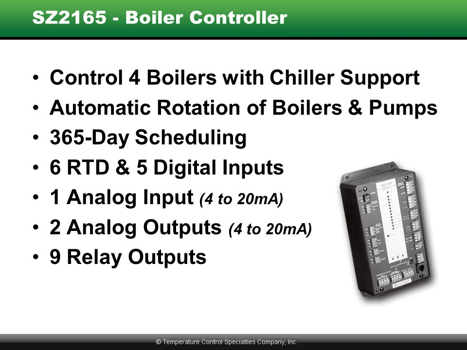Control 4 Boilers with Chiller Support