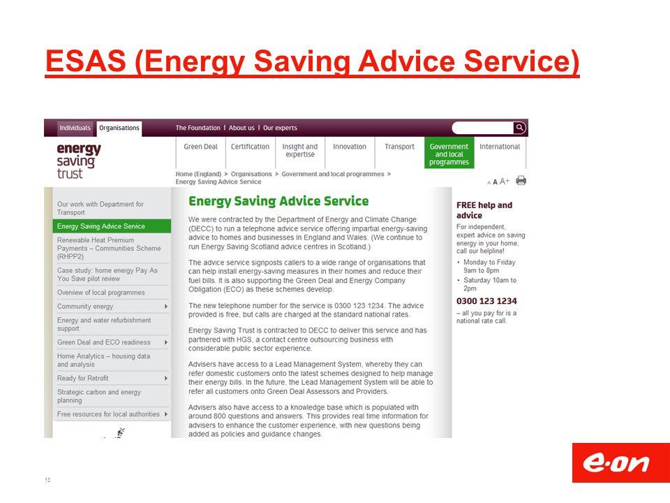 ESAS (Energy Saving Advice Service)