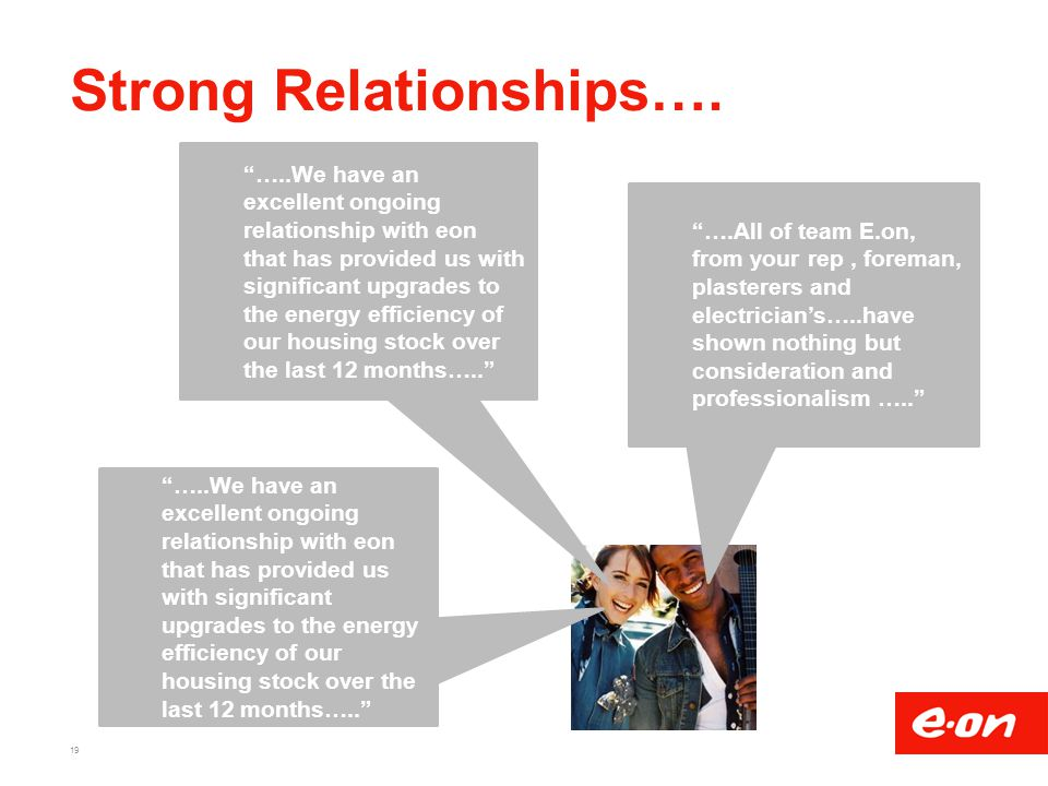 Strong Relationships….