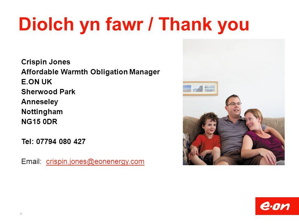 Diolch yn fawr / Thank you