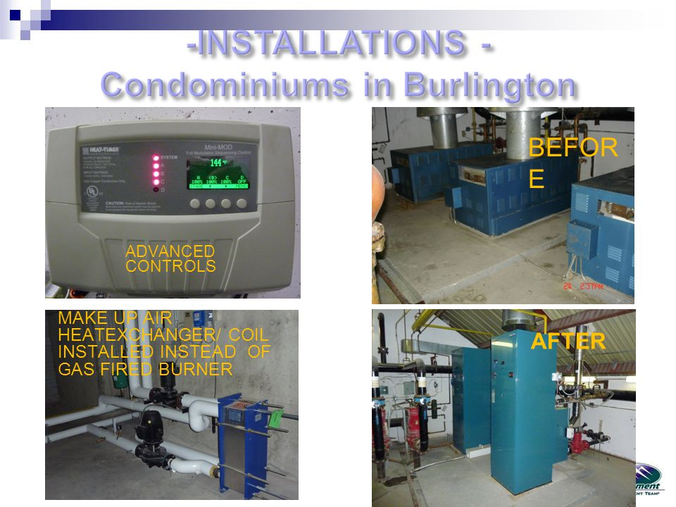 -INSTALLATIONS - Condominiums in Burlington