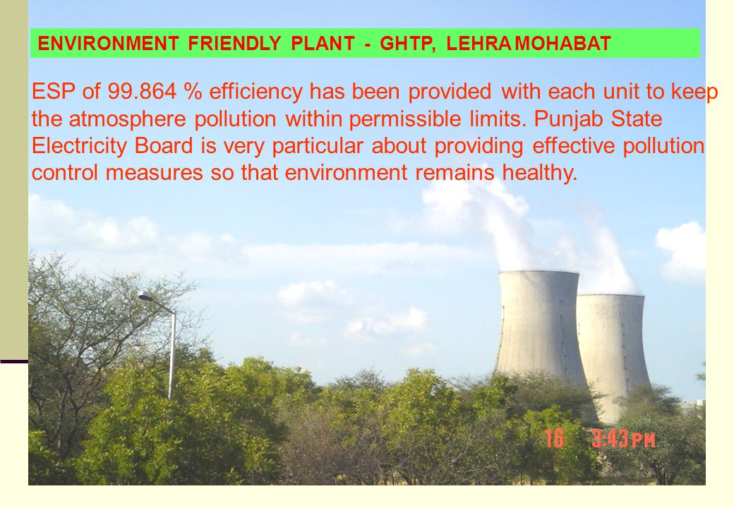 ENVIRONMENT FRIENDLY PLANT - GHTP, LEHRA MOHABAT