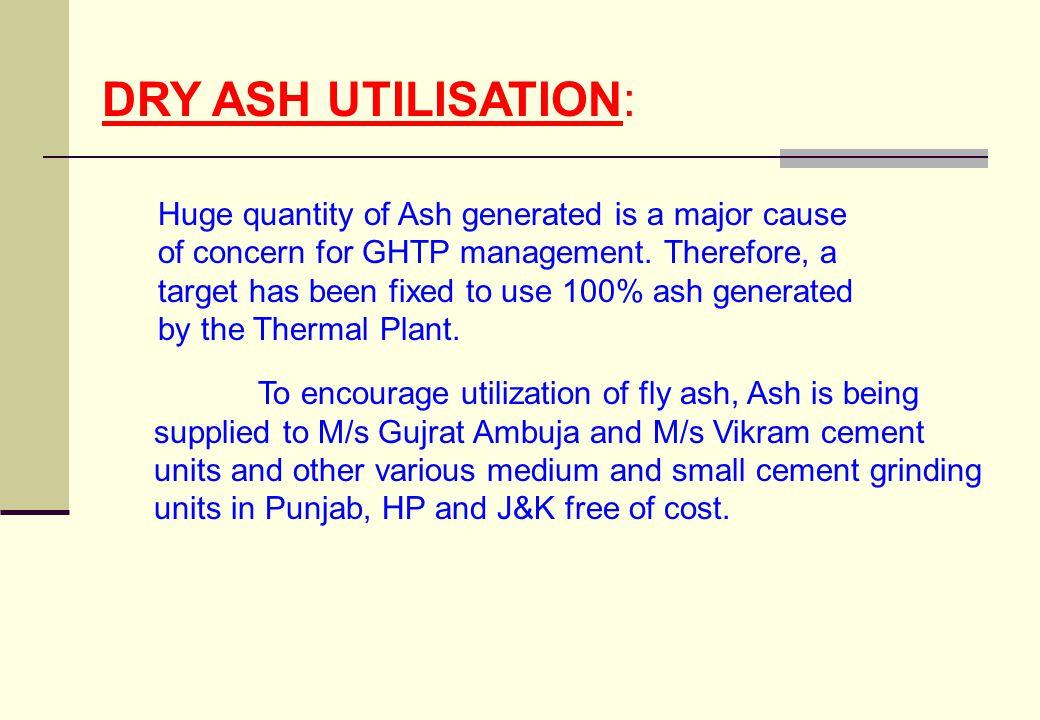 DRY ASH UTILISATION: