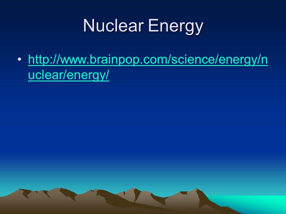 Nuclear Energy http://www.brainpop.com/science/energy/nuclear/energy/