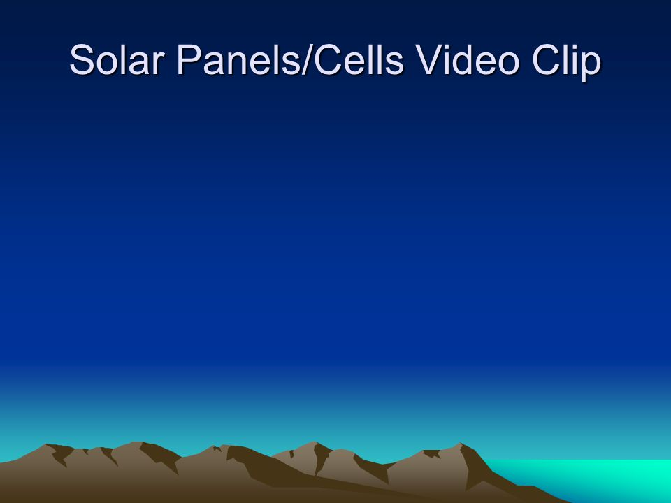 Solar Panels/Cells Video Clip