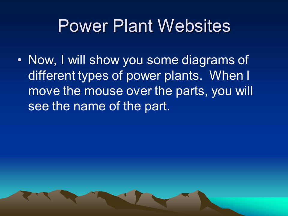 Power Plant Websites