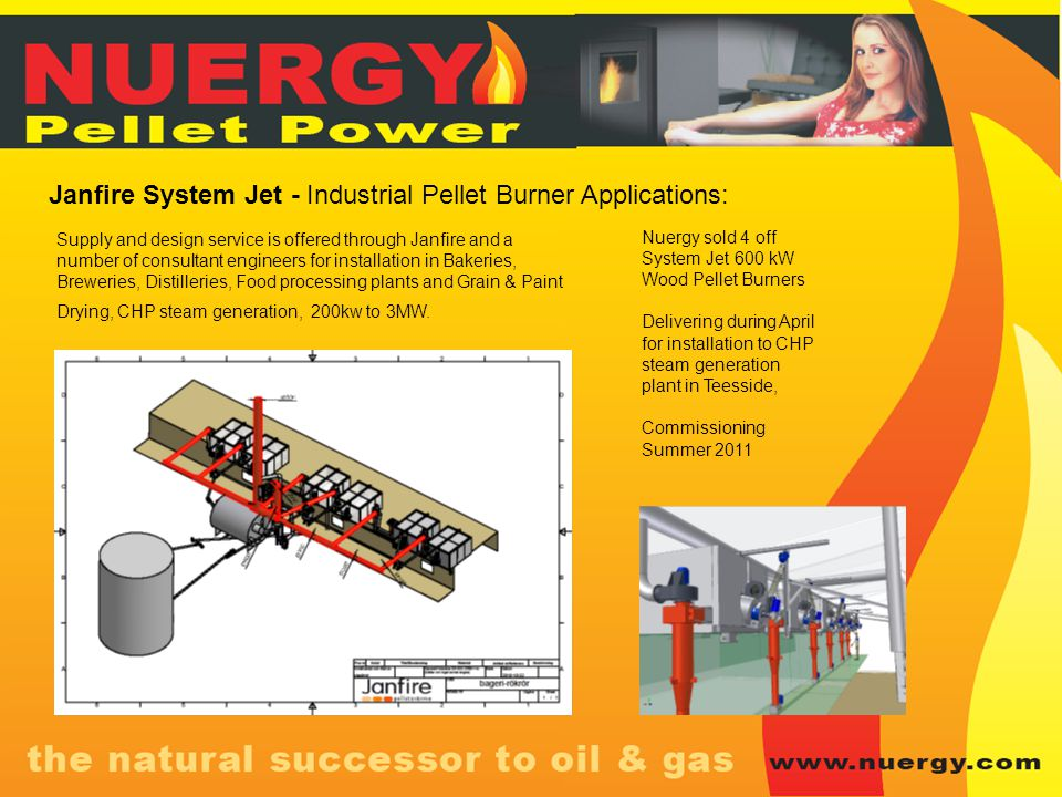 Janfire System Jet - Industrial Pellet Burner Applications: