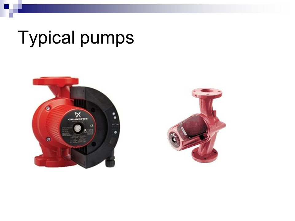 Typical pumps