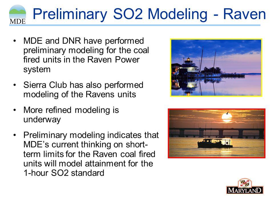 Preliminary SO2 Modeling - Raven