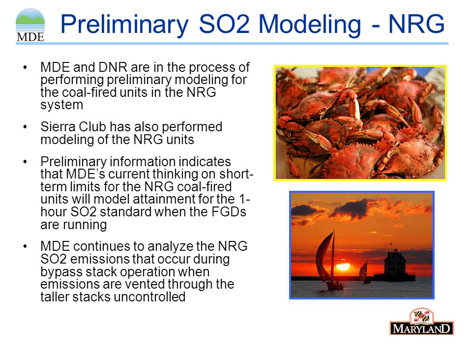 Preliminary SO2 Modeling - NRG