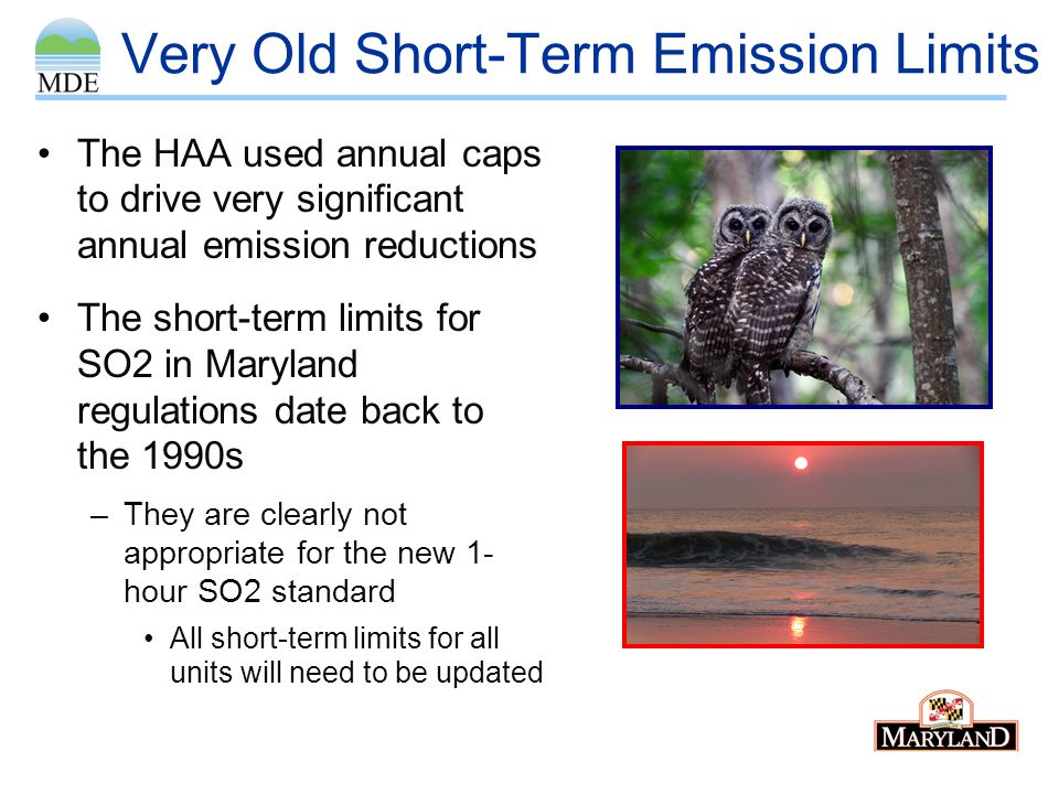 Very Old Short-Term Emission Limits