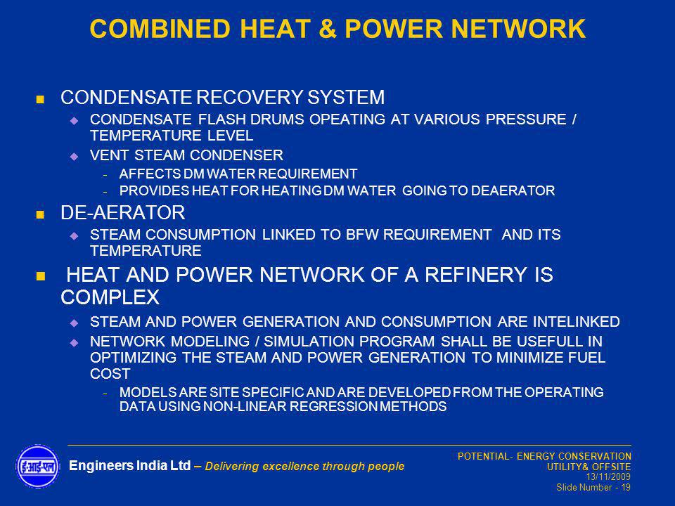 COMBINED HEAT & POWER NETWORK