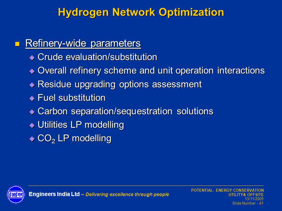 Hydrogen Network Optimization
