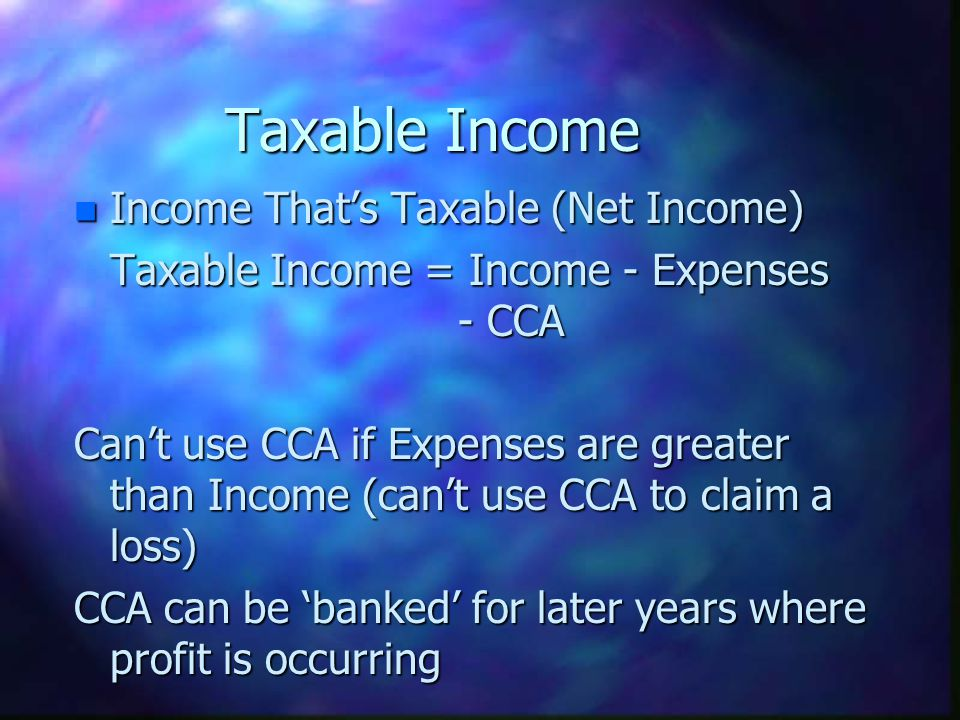 Taxable Income Income That's Taxable (Net Income)