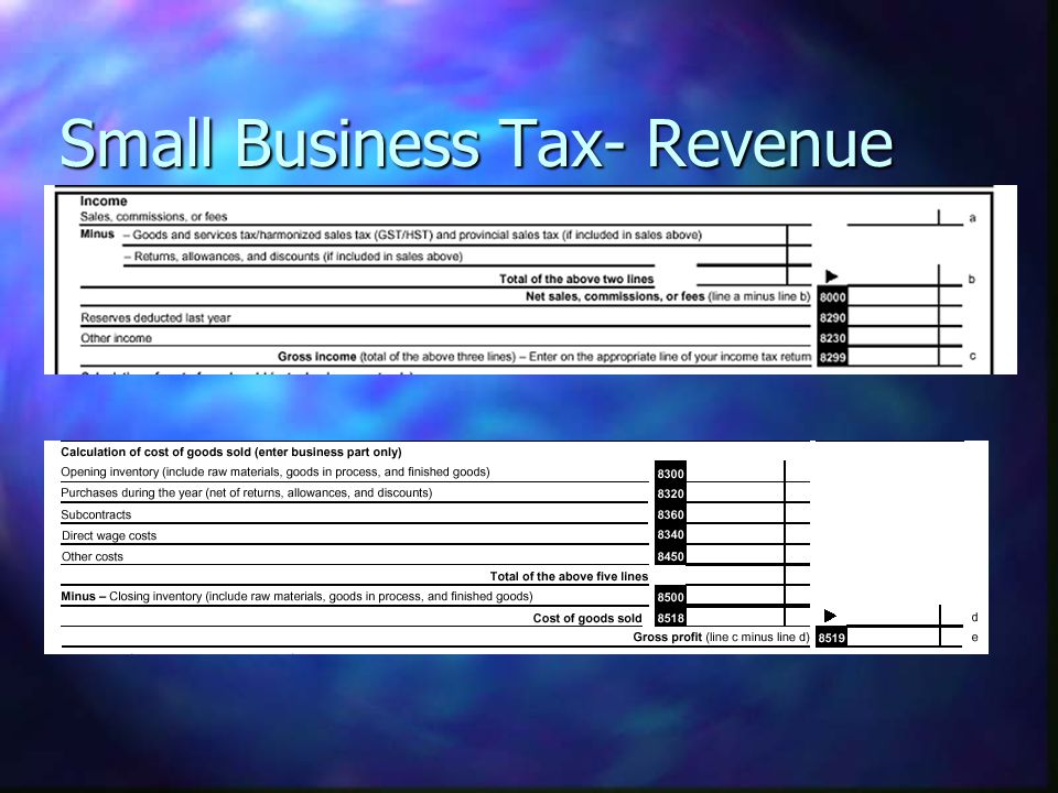 Small Business Tax- Revenue