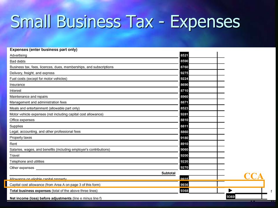 Small Business Tax - Expenses