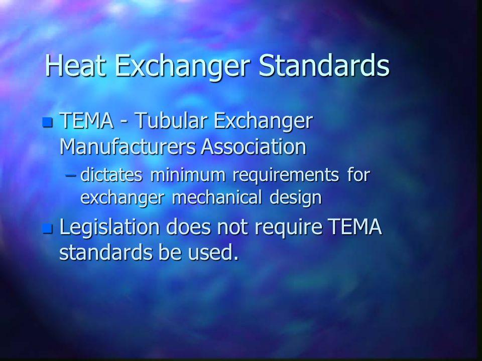 Heat Exchanger Standards