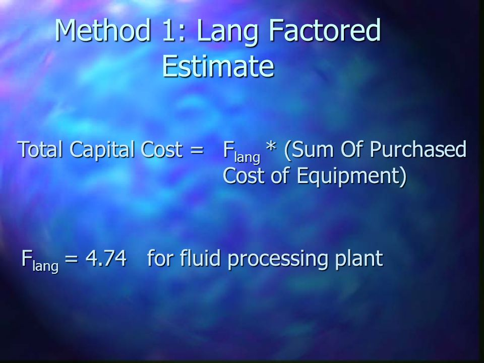 Method 1: Lang Factored Estimate
