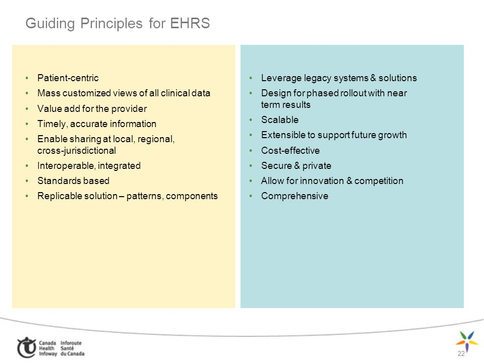 Guiding Principles for EHRS