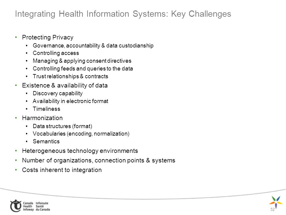 Integrating Health Information Systems: Key Challenges